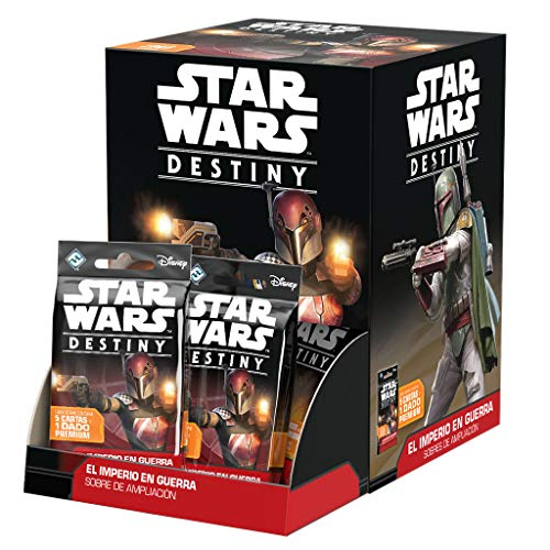 Fantasy Flight Games- Star Wars Destiny. El Imperio En Guerra Expositor Sobres (36 Unidades), Multicolor (EDFFFSWD07D)