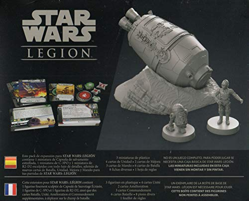 Fantasy Flight Games- Star Wars Legion - Cápsula de Salvamento Estrellada, Color (SWL43ES)