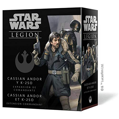 Fantasy Flight Games- Star Wars Legion - Cassian Andor y K-2S0 Expansión de Comandante, Color (SWL59ES)