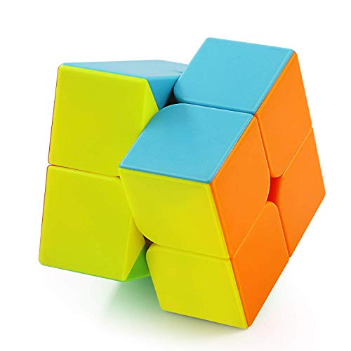 FAVNIC Speed Cube 2x2 Stickerless Magic Cube Puzzle Cube (2x2)