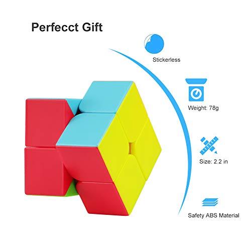 FAVNIC Speed CubeStickerless 2x2 Magic Cube Puzzle Cube para niños