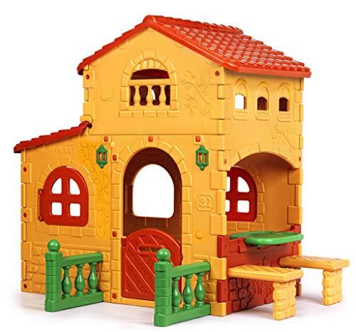 FEBER - Casita infantil para el jardín, Grande Villa (Famosa 800008590)