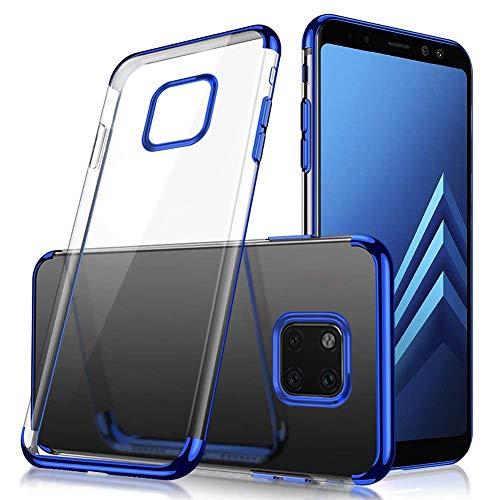 Felfy Brillante Funda Compatible con Huawei Mate 20 Pro Carcasa Silicona Transparente,Compatible con Huawei Mate 20 Pro Funda Azul Silicona Ultra Delgado Suave TPU Anti-Arañazos Antigolpes Case