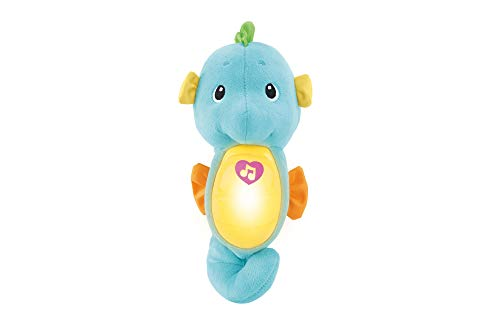 Fisher Price Caballito de mar dulces sueños azul, juguete de cuna bebé (Mattel DGH82) , color/modelo surtido