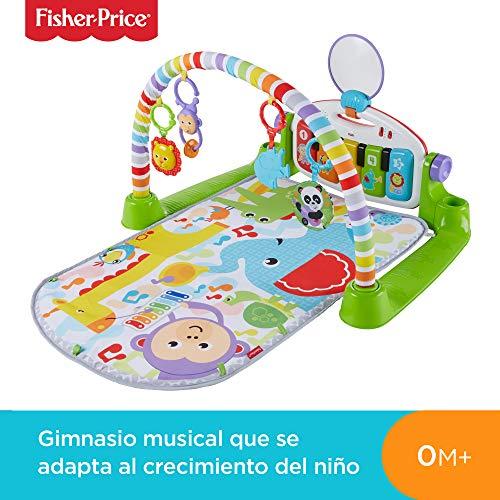 Fisher-Price - Gimnasio bebé Piano Pataditas superaprendizaje - (Mattel FWT12)