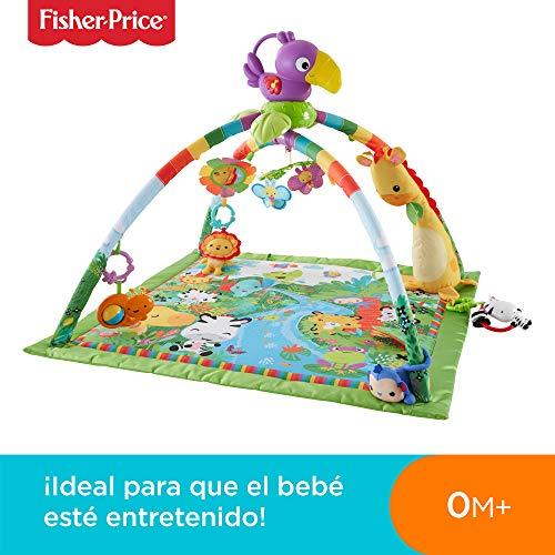 Fisher-Price - Gimnasio deluxe animalitos de la selva - gimnasios bebe - (Mattel DFP08)