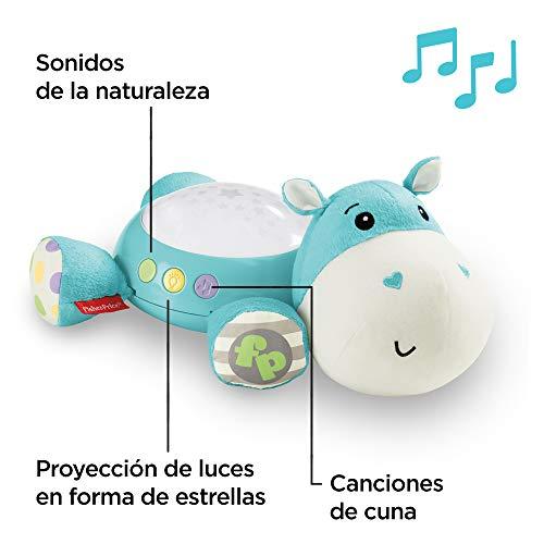 Fisher-Price Hipopótamo dulces sueños, juguete de cuna para bebé (Mattel CGN86), peluches, azul