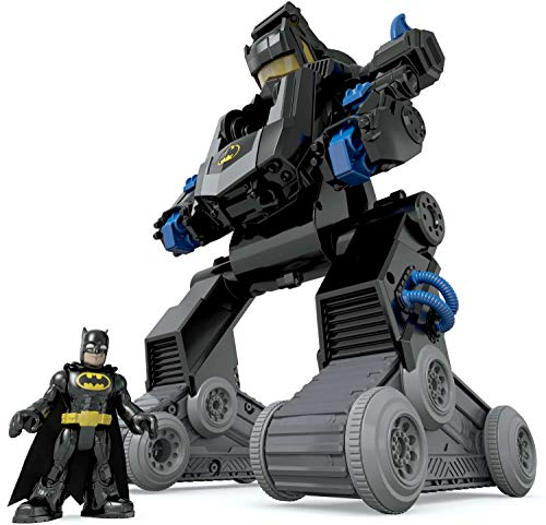 Fisher-Price Imaginext Batman, Bat-Robot transformable, juguete para niño + 3 años (Mattel DMT82)