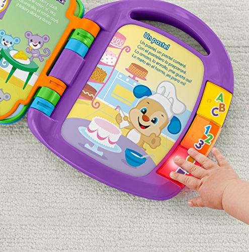 Fisher-Price - Ríe y Aprende - Libro interactivo de aprendizaje - juguetes educativos - (Mattel FRC69)