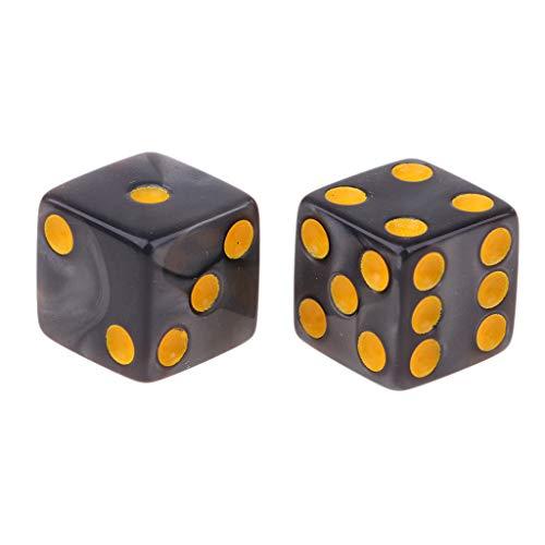 FLAMEER 10 Piezas D6 Dados para Juego de Mesa (Color Rojo / Naranja / Blanco / Azul / Gris para Selección) - Gris