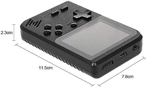 Flybiz Consola de Juegos Portátil, 3 Pulgadas Consola de Juegos portátil Pantalla HD Consola de Juegos Retro con 500 Juegos, Soporte conectar TV, Regalo de Cumpleaños para los Niños Padres(2P-Negro)