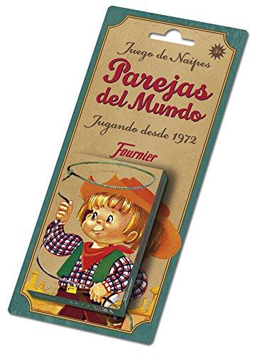 Fournier- Parejas del Mundo Baraja de Cartas Infantil Clásica, Multicolor (F23803)