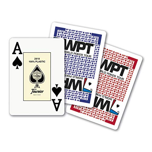 Fournier World Poker Tour Baraja de Cartas Profesional Calidad Casino, colores surtidos, 1 unidad