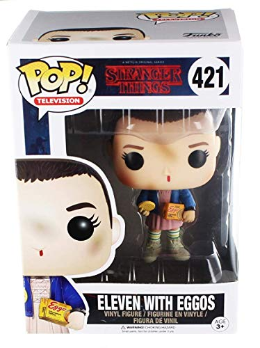 Funko Pop 13318,  Vinilo Colección Stranger Things 421, Eleven with Eggos