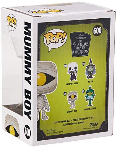 Funko- Pop Figura De Vinil: Disney: Nightmare Before Christmas-Mummy Boy Coleccionable, Multicolor, Talla única (42674)