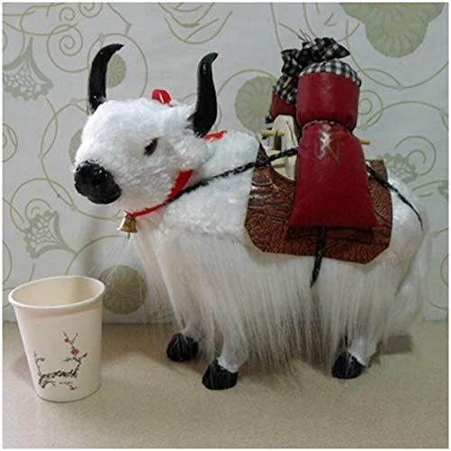 FXQ Ganado Modelo de simulación - Ganado Modelo de Simulación Virtual - 1 Par Vacas Realista Silvestre Modelo Felpa Juguete estatuilla - Decoración para la Navidad Puntales