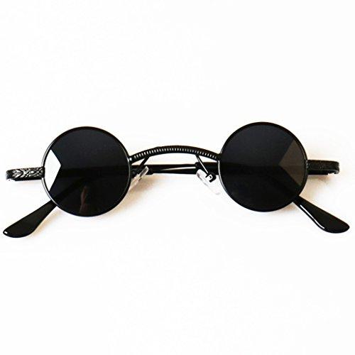 Gafas YLLXX Príncipe Espejo Vintage Redondo Marco Sol Femenino Polarizador Masculino Marea Sol De La Personalidad