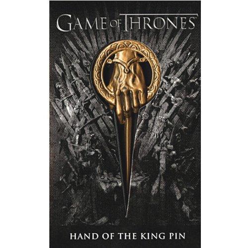 Game Of Thrones Juego de Tronos Mano del Rey Unisex broche Dorado, Aleación de Zinc, [Effekte/Besonderheiten] +