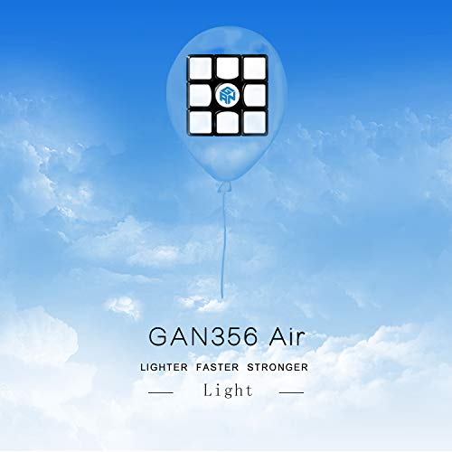 GAN 356 Air Master negro Set con bolsa original GANs y soporte extra Cube nuevo núcleo azul 3x3x3