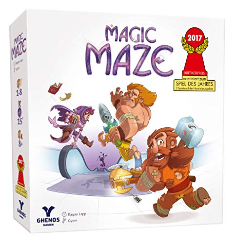 ghenos Games Magic Maze-gioco de Mesa, Color Blanco, ghe069/2