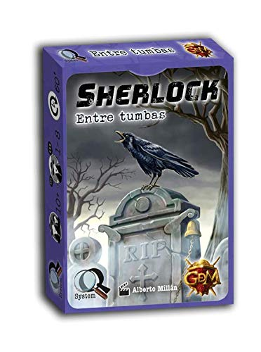 GM Games- Sherlock: Entre tumbas Juego de investigación, Color Naranja (GDM Games GDM2094)