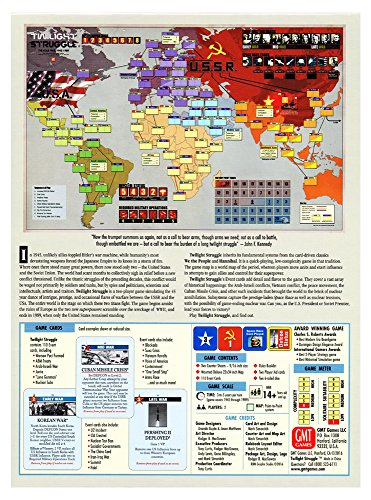 GMT-3 Twilight Struggle The Cold War 1945-1989 - Deluxe Edition, Sixth Printing 2016