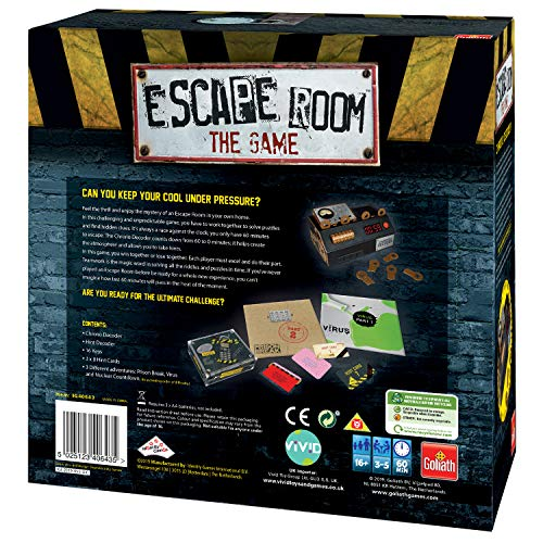 Goliath Games IG40643 Escape Room The 3 Pack Juego Familiar para 16+, Multi