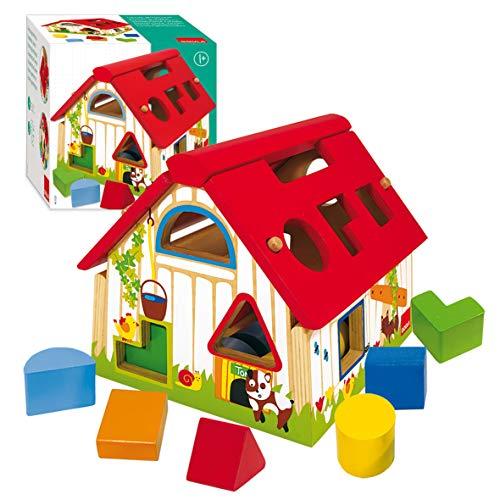 Goula- Shape Sorter Farm Granja con formas geométricas, Multicolor, 12m+ (Diset 55220) , color/modelo surtido
