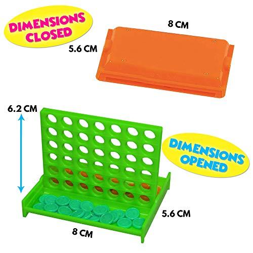 Granel Mini Juegos de Mesa Conecta 4 en una fila - 24 piezas Por Paquete - 4 colores diferentes – Ideales Para Niños Fiestas Cumpleaños, Premios de la clase - Regalos juguetes relleno bolsas