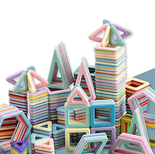 GWLDV Bloques de Construcción Magnéticos 3D con Matemáticas y Alfabeto, Juguete Educativo y Creativo para Niños más de 3 Años - 166 Piezas - Material ABS - Mejor Regalo de Cumpleaños y Fiestas