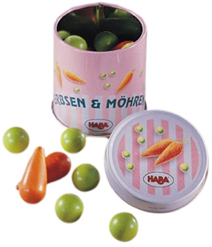 HABA 1410 - Lata de Guisantes y Zanahorias para Mercado de Juguete