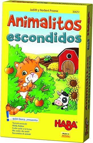 HABA- Juego de Mesa, Animalitos Escondidos, Multicolor (Habermass H304251)