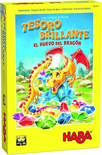 Haba Juego de Mesa Tesoro Brillante-El Huevo del Dragón-ESP, Multicolor (H305301)