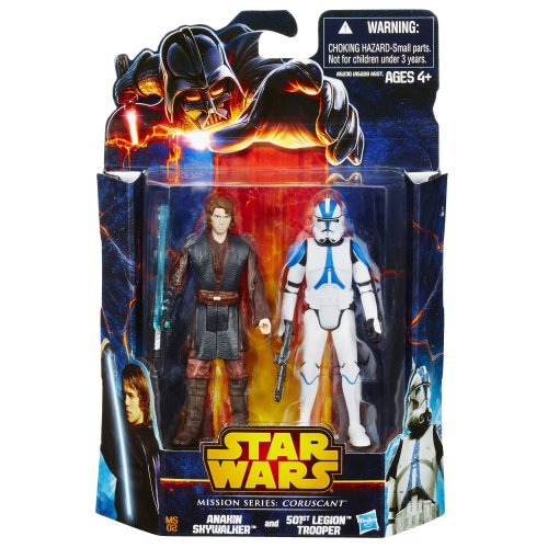 Hasbro Anakin Skywalker & at-RT Legion Clone Trooper Mission Series coruscant MS02 – Revenge of The Sith Saga Legends