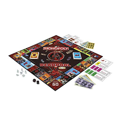 Hasbro Gaming E2033102 Juego del Monopoly, edición de Deadpool de Marvel (Idioma español no garantizado)