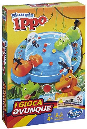 Hasbro Gaming - Tragabolas, Juego de Viaje (versión en Italiano)
