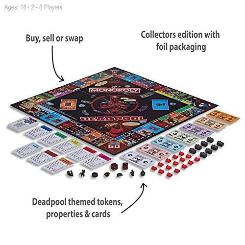 Hasbro Monopoly Deadpool Collector's Edition Board Game