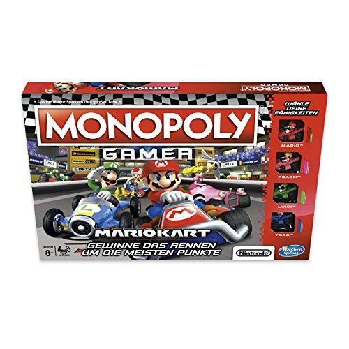 Hasbro Monopoly Gamer Mario Kart Simulación económica Niños y Adultos - Juego de Tablero (Simulación económica, Niños y Adultos, Niño/niña, 8 año(s), 32 Pieza(s), Caja)