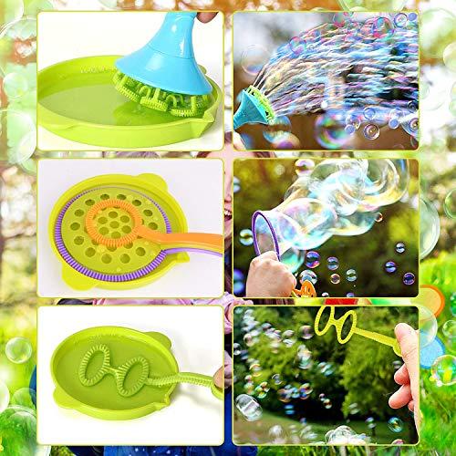 HellDoler 13 Piezas Burbujas de Jabón Kit de Varita de Burbujas Máquina de Burbujas Juguetes Bubbles para Juego de Fiesta Al Aire Libre Boda,Solución de Burbujas NO Incluida