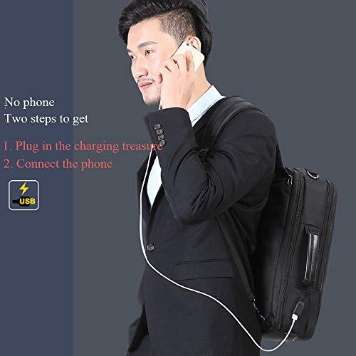 Hombres/Mujeres De La Mochila del Ordenador Portátil con El Puerto De La Carga por USB Conveniente para La Capacidad Grande Respirable Impermeable del Viaje/del Negocio/del Trabajo Auriculares,Grey