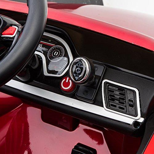 HOMCOM Coche Eléctrico para Niño 3-8 Años Audi Q5 con Mando a Distancia MP3 Luces y Sonidos Apertura de Puerta 116x75x56cm Carga 30kg
