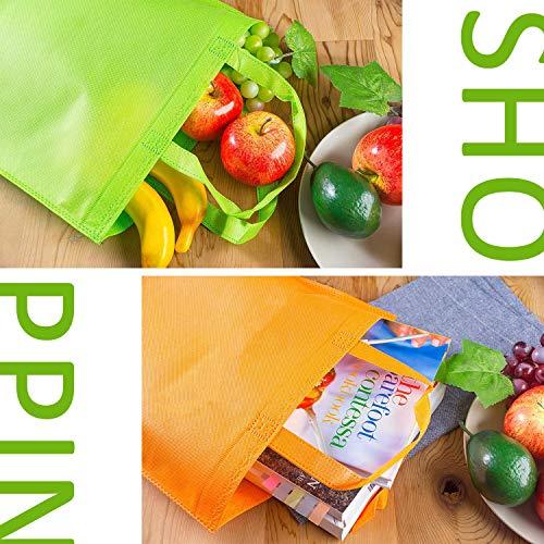 HONGXIN-SHOP Bolsas de Fiesta No Tejidas Bolsas de la Compra Reutilizables Bolsas de Regalo de 10 Colores para Decoración de Cumpleaños 30 Piezas