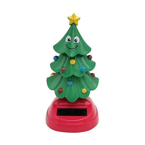 Hualieli Solar Swinging Christmas Tree, Dancing Christmas Tree, Solar Powered Car Decoration, Christmas Kids Toys Gift, Panel Solar Incorporado
