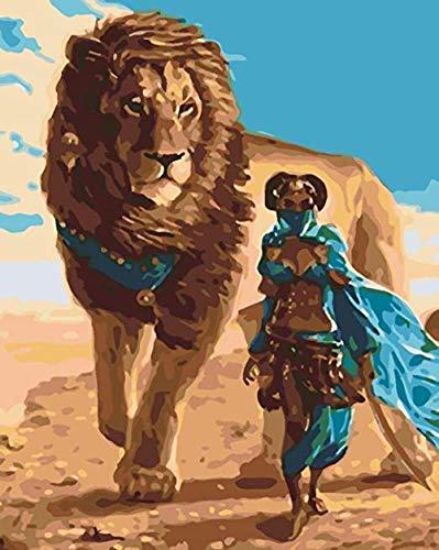 HZDXT Rompecabezas para Adultos 1000 Piezas, Pintura al óleo del Arte Rompecabezas de Madera: león y Mujer enmascarada, Regalo de Juguetes educativos de descompresión desafiante