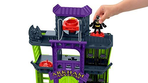 Imaginext DC Super Friends Batman Castillo de Arkham Asylum, Juguetes Niños 3 Año (Mattel FDX24)