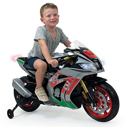 INJUSA- Aprilia 12V Moto Racing para Niños de más de 3 Años, con Luces y Sonidos, Multicolor, única (64900)