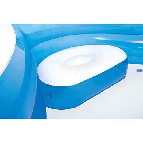 Intex 56475NP - Piscina hinchable cuadrada con asientos 229 x 66 cm 990 litros