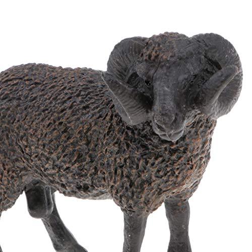 IPOTCH Figura de Animales de Simulación Plástico Modelo de Orangután/Oso Polar/Pinguino/Elefanbte Regalo de Fiesta Navidad para Niños - ovejas Negras