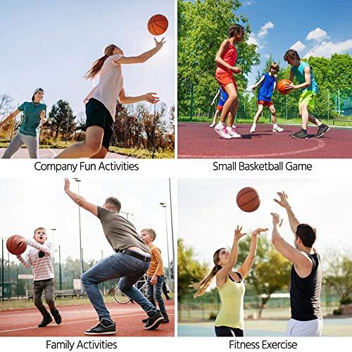 JJZXZQ Aro De Baloncesto Extraíble, Soporte De Portería De Baloncesto En Tierra De 6.5-8.5 Pies, Juego De Baloncesto De Altura Ajustable para Exteriores/Interiores para Niños Y Jóvenes
