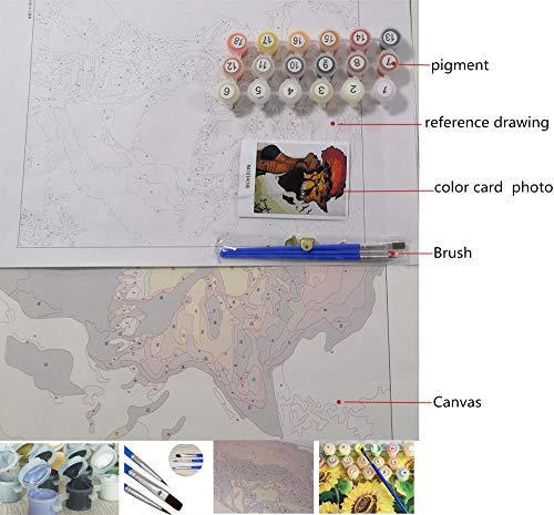 Jkykpp Pintura digital Entrega directa renacimiento de Nirvana en lienzo Animal Phoenix decoración de boda arte regalo
